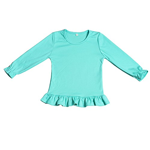 a9747f27ab80 Yawoo Haan Kids Girls Ruffle Long Sleeve Cotton T-Shirts Baby Casual Tees