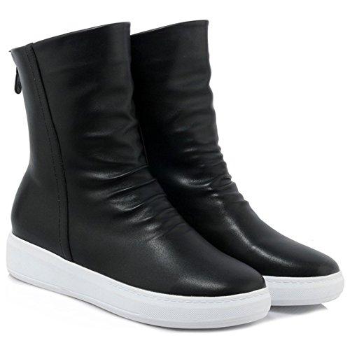 COOLCEPT Women Boots Back Zipper Black iHky9nbP
