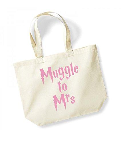 Muggle Kelham Canvas pink Print Cotton Mrs Natural Slogan Unisex To Tote Bag S0HqSgrI