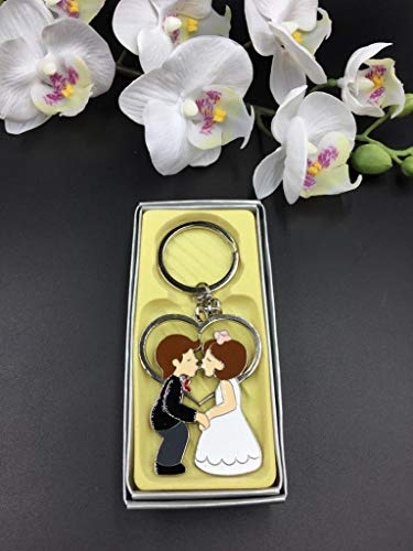 12 Pcs Wedding Favors Couple Party Keychains Giveaways Llaveros Recuerdos De Boda