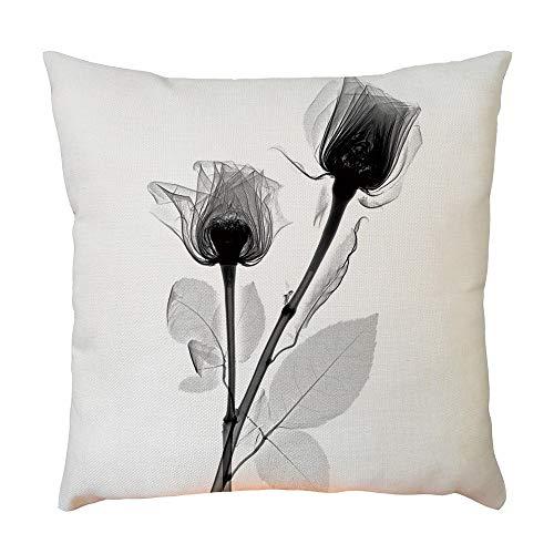 DEESEE(TM)Plant Flower Pattern Pillowcase Decorative Upholstery Linen (B) for $<!--$3.59-->