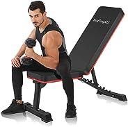 BangTong&Li Adjustable Bench,Utility Weight Bench for Full Body Workout- Multi-Purpose Fold
