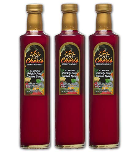 3 Pack - Prickly Pear Syrup - 23 oz - Giant Size - Made from Natural Prickly Pear Juice - Cactus - Southwest