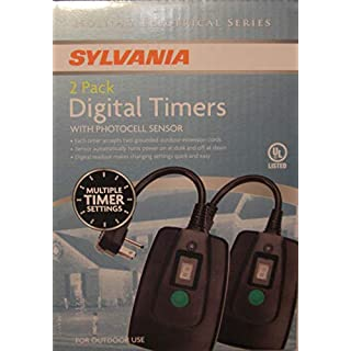 Sylvania Outdoor Digital Timer-with 2 Outles 2 Pack
