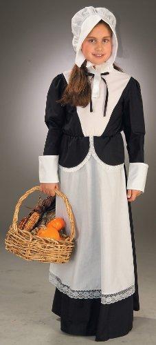 [Forum Novelties Pilgrim Girl Costume, Child's Large] (Boy Pilgrim Costumes)