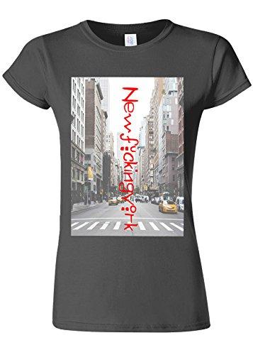 死にかけているモディッシュピークNewF*ckingYork New York City NYC Novelty Charcoal Women T Shirt Top-L