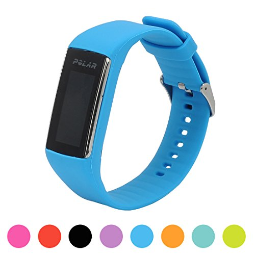 Feskio For Polar A360 Smart Watch Fitness Tracker Replacement Watchband Soft Silicone Rubber Watch Band Wrist Strap Case for Polar A360 Smart Watch (Band Only,No Tracker)