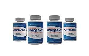 Omega Flex: Reduce Pain, Inflammation, Lubricate Joints, Help Increase Blood Flow, Lessen Stiffness in 7 Days (4 Bottles)