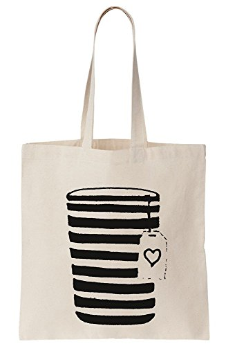 The With Take Canvas Illustration Coffee Go Tote Bag On Out Coffee Minimal Cup xIg81n5nq
