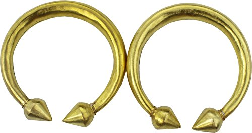 (RaanPahMuang Thai Gold Painted Bulky Ankle Rings for Thai Theater or Dance - 2pcs, 25cms, Gold)