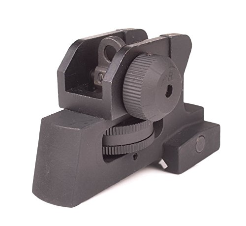 Rear Iron Sight for AR Style Rifles - Picatinny Mount Detachable Adjustable - by Ozark (Iron Adjustable Sight)