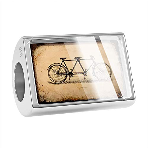NEONBLOND Charm Tandem Bicycle 925 Sterling Silver Bead