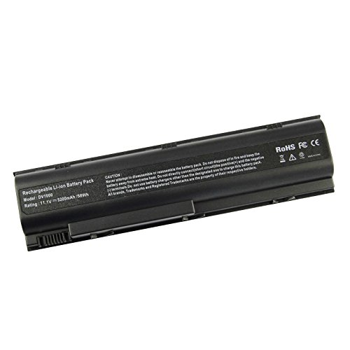 AC Doctor INC 5200mAh Laptop Battery 367759-001 HSTNN-IB09 PF723A PM579A for HP Pavilion DV1000 DV1200 DV1400 DV4000 DV5000 ZE2000 Series 6 Cell New ()