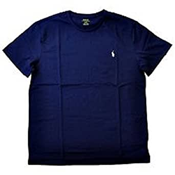 Polo Ralph Lauren Mens T-shirt (Small, Space Navy with Sharp White Pony)