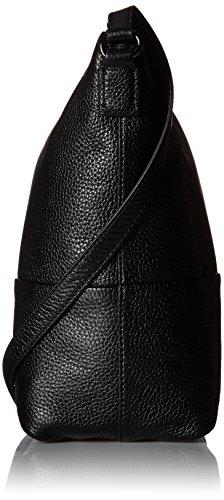 Ecco Damen Sp Crossbody Umhängetasche, Schwarz (Black), 11x24x28 cm