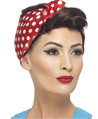 40's Rosie the Riveter Wig with (Rosie The Riveter Wig)