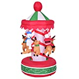 Inflatable Whirligig Santa Ride Christmas Holiday Decoration Indoor Outdoor 6.5 Inch