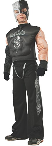 Rubies WWE Deluxe Muscle-Chest Rey Mysterio Costume, Child Medium (Kids Mysterio Rey Wwe Mask For)