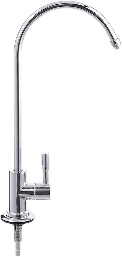 Grifo de fregadero de cocina Grifo de fregadero de cocina de acero inoxidable de 1//4  Grifo de /ósmosis inversa cromada RO Filtro de agua potable