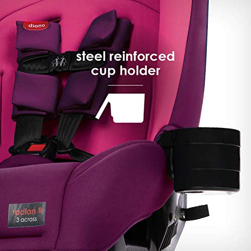 4141m%2B3PGUL - Diono Radian 3RX 3-in-1 Rear And Forward Facing Convertible Car Seat, Head Support Infant Insert, 10 Years 1 Car Seat Ultimate Safety And Protection, Slim Design - Fits 3 Across, Pink Blossom