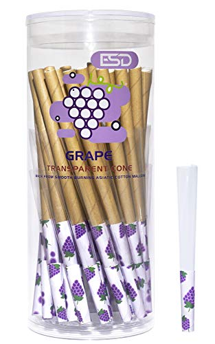 Cyclones Grape Flavored Pre Rolled Clear Tubes | 50 Pack | Natural Cellulose Prerolled Ready to Pack with Packing Sticks and Tips Included