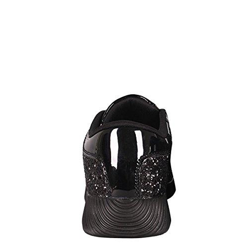 Per Sempre Punta Rotonda Donna Scintillio Luccicante Su Palestra Fitness Trainer Moda Running Sneaker Nero