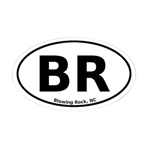 CafePress - Blowing Rock, NC Euro - Oval Bumper Sticker, Euro Oval Car - Blowing Nc City Of Rock