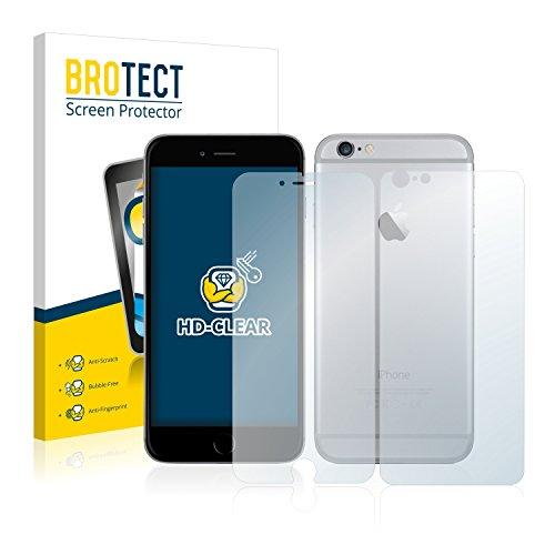 2x BROTECT Pellicola Protettiva Apple iPhone 6S Plus (Anteriore + Posteriore) Schermo Protezione – Trasparente, Anti-Impronte