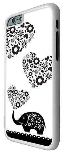 043 - Cute Aztec Elephant Cute Paisly Love Hearts Design iphone 6 6S 4.7'' Coque Fashion Trend Case Coque Protection Cover plastique et métal - Blanc