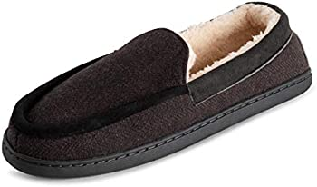 Polar Outdoor Durable Rubber Sole Memory Foam Mens Moccasin Loafer