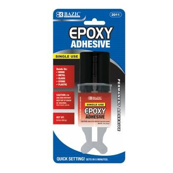Bazic Quick Set Epoxy Glue with Syringe Applicator 144 pcs sku# (144 Syringes)