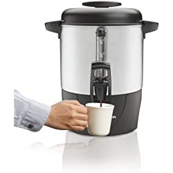 Hamilton Beach Black and Silver 40-Cup Dispensing Coffee Urn