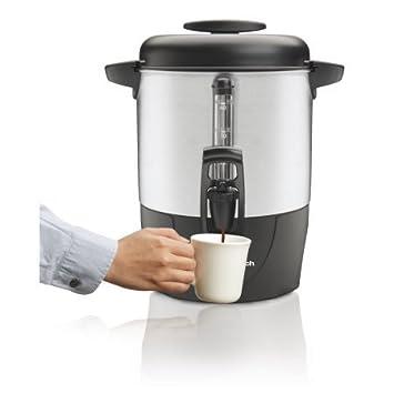 Hamilton Beach negro y plata 40-cup dispensador urna de café