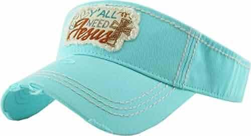 875679e5 KBETHOS Ladies Western Southern Vintage Distressed Sun Visor Hat Adjustable  Cap