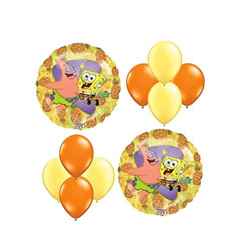 (Spongebob Squarepants Birthday Balloon Bouquet 10 pc)