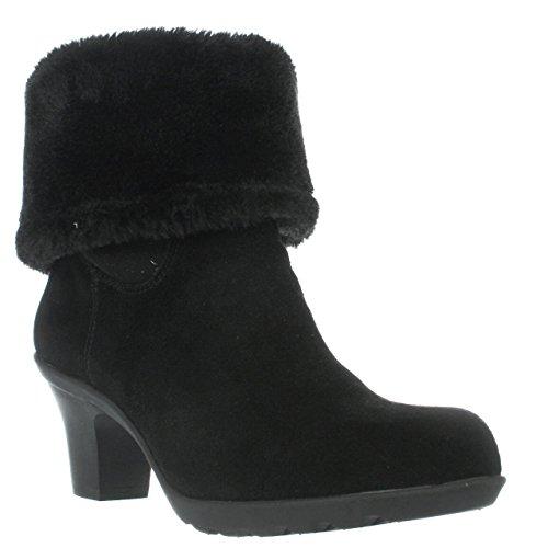 Anne Klein AK Sport Women's HEWARD Suede Fashion Boot, Black, 6.5 M US