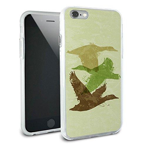Ducks Flying Design - Hunting Hunter Camouflage Protective Slim Hybrid Rubber Bumper Case for Apple iPhone 6