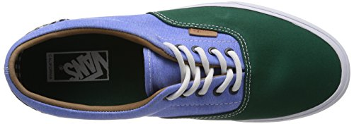Vans U Era - Zapatillas Unisex adulto Twill Gingham Evergreen Green/Light Blue