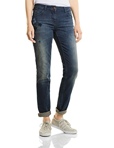 Vaqueros Blau authentic Tapered Mujer Rectos Cecil 10285 Para Charlize Wash Used ExBSw6qR