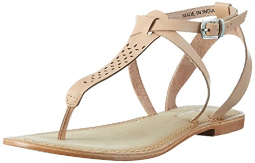 Leather Vero Mujer Tiras de Sandal para Shrimp Beige Moda Vmanneli aq0nrEq