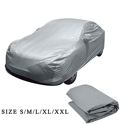 Car Cover Waterproof All Weather - Car Covers Guard Padded Snow Ice Dust Sun UV Shade Cover Light Silver Size S-XL Auto Car Outdoor Protector Cover - by ecogreenice - 1 PCs (Snow Blower For Suv)