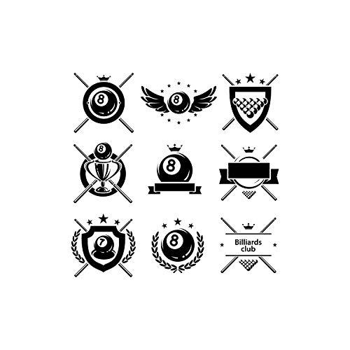 Craft Sticks - Set #2 Billiards Club Pool Sticks Crossed Ball Sports Logo.Eps .Png Vector Cut Cutting