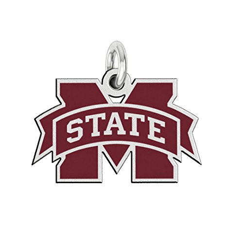 Sterling Silver Msu Bulldogs Charm (Mississippi State University Bulldogs 3/4