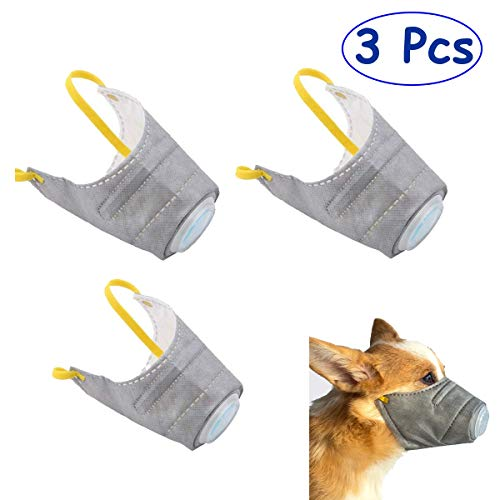 Bonaweite 3Pcs Pet Dog Soft Mask PM2.5 Filter