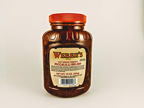 Weber's Buffalo's Own Brand Hot Green Tomato Piccalilli Relish 16oz.