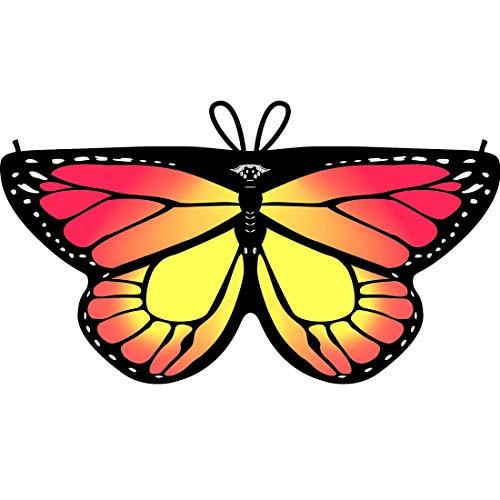 Shireake Baby Cartoon Butterfly Wings Costume Play Butterfly Wings for Kids Monarch Wings (Fluorescence Orange) -