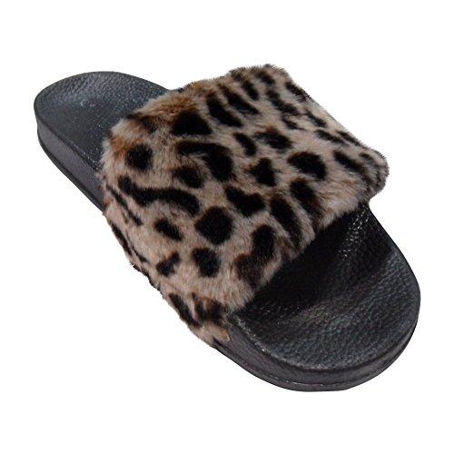 Pasen Lente Verkoop 2018 Lauren Flip-flop Breedband Namaakbont Sandaal Slipper Voor Dames (geassorteerde Kleuren) Leopard