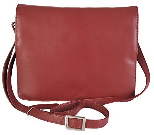 f3035e67e8 Medium Visconti Borsa Colori Rosso Tess Organizer' '754 Leather 5 44qTCwE