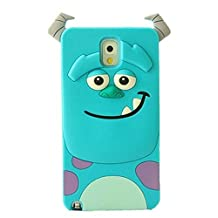Samsung Galaxy Note 3 Case,Anya 3D Fashion Cute Flower Bow Ears Classic Cartoon Animal Soft Rubber Robot Silicone Back Shell Cases Cover Skin for Samsung Galaxy Note 3 III N9000 Sully Monster