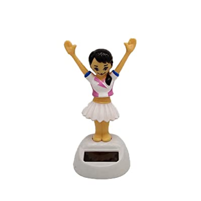 FunDiscount Solar Powered Dancing Swinging Animated Dancer Toy, Solar Daisy Bobble Head Dolls Dancer Figures Car Windowsill Decoration Holiday Car Dashboard Office Home Desk Decor (Girls)